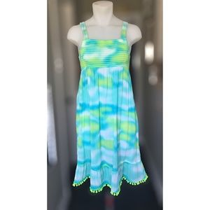 SO Youth Girls Tie Dye Tube Top Summer Sun Dress